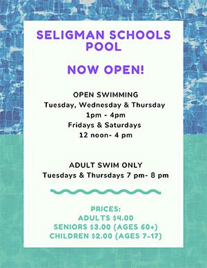 Seligman Schools Pool - Now Open!