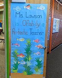 Ms Lawson is ofish-ily a fin-tastic teacher