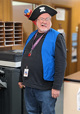 Mr. Phillips dressed as a pirate