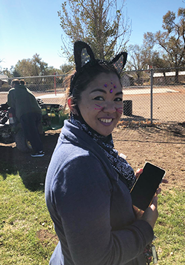 Ms. Akot dressed as a cat