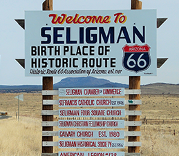 Welcome to Seligman sign
