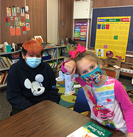 Students dressed up for Horton Hears a Who
