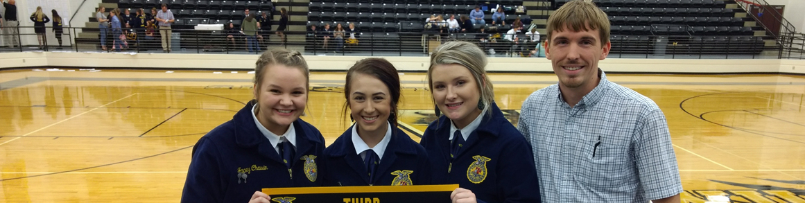 FFA Broadcasting students and advisor