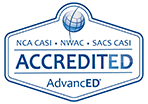 AdvancED Accredited logo