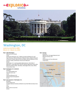 Click to view information about our Washington DC Trip