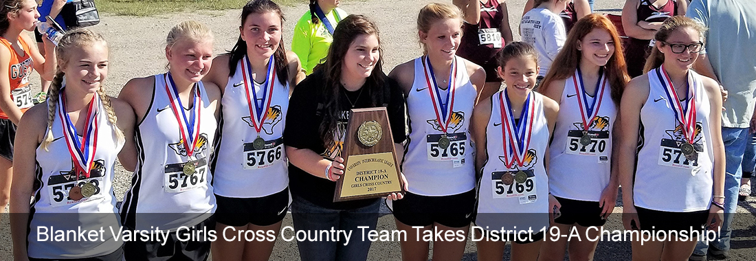 Blanket Varsity Girls Cross Country team Takes District 19-A Championship!