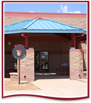 Front view of Red Valley Cove High School
