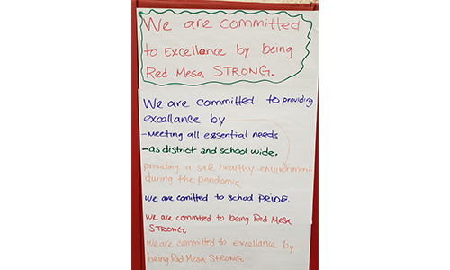 We are committed to excellence by being Red Mesa Strong