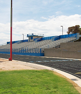 Side view of track