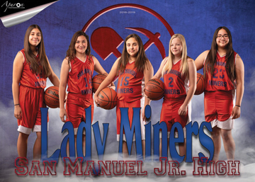 San Manuel Jr/Sr High School Girls 7th Grade Girls Basketball 2018-2019