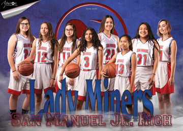 San Manuel Jr/Sr High School Girls 8th Grade Basketball 2018-2019