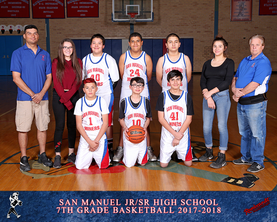 San Manuel Jr/Sr High School Boys 7th Grade Basketball 2017-2018