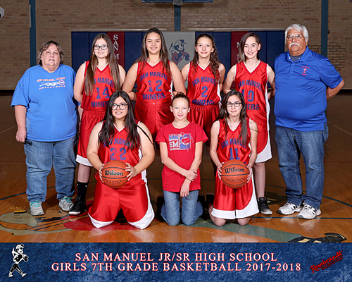 San Manuel Jr/Sr High School Girls 7th Grade Girls Basketball 2017-2018