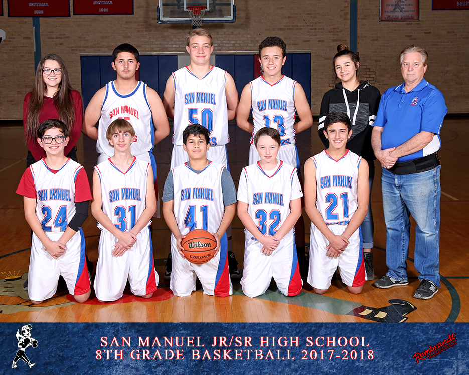 San Manuel Jr/Sr High School Boys 8th Grade Basketball 2017-2018