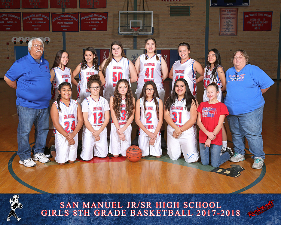 San Manuel Jr/Sr High School Girls 8th Grade Basketball 2017-2018