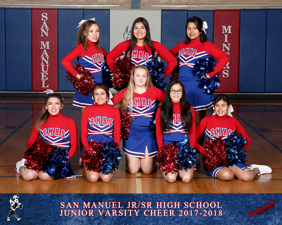 San Manuel Jr/Sr High School Junior Varsity Cheer 2017-2018