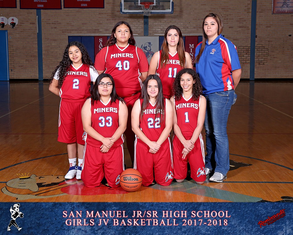 San Manuel Jr/Sr High School JV Girls Basketball 2017-2018