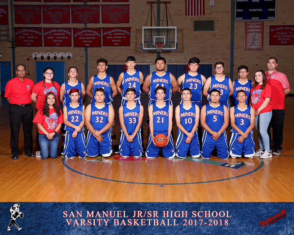 San Manuel Jr/Sr High School Varsity Boys Basketball 2017-2018