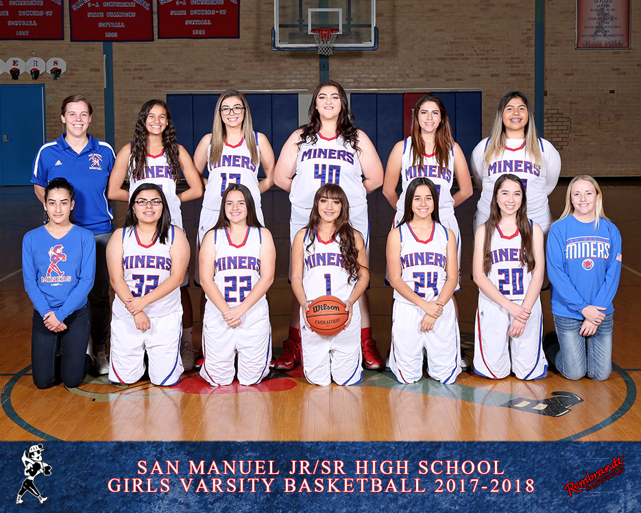 San Manuel Jr/Sr High School Varsity Girls Basketball 2017-2018