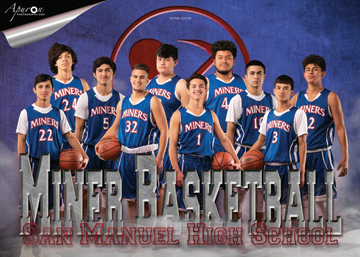 San Manuel Jr/Sr High School Varsity Boys Basketball 2018-2019