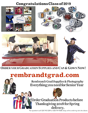 click to view Rembrant Graduation Cap & Gown flyer