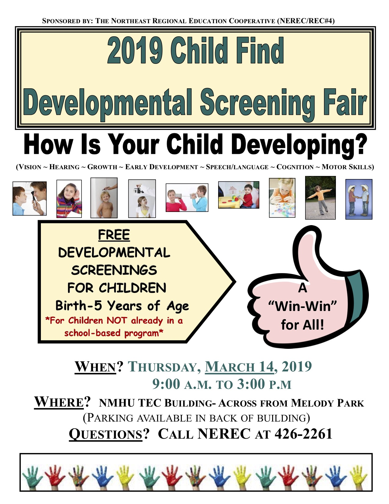 Child Find Developmental Screening Fair Flyer