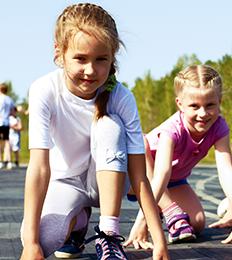 kids in a race