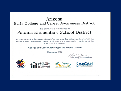 Arizona Early College and Career Awareness Award