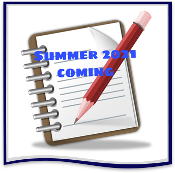 Notebook and pencil with Summer 2021 Coming