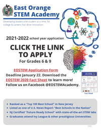 2021-2022 STEM Academy Auditions flyer