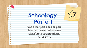 Schoology Part One - Spanish