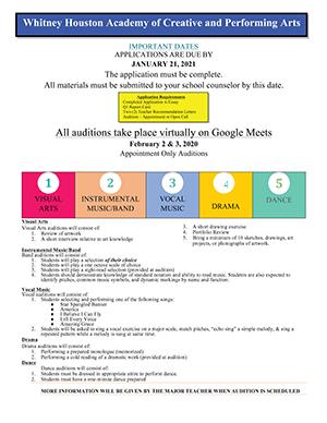 Whitney E. Houston Academy Application information