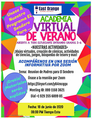 The path parent meeting flyer in Spanish