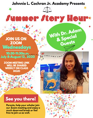 Summer Story Hour flyer