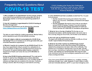 Frequently Asked Questions about COVID-19 Test