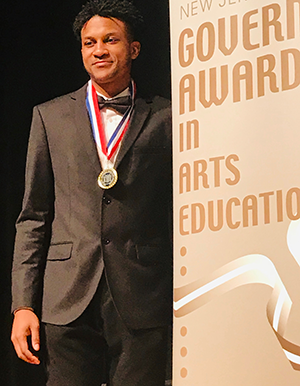 Malachi Lewis and New Jersey Governor's Award in Arts Educationaward