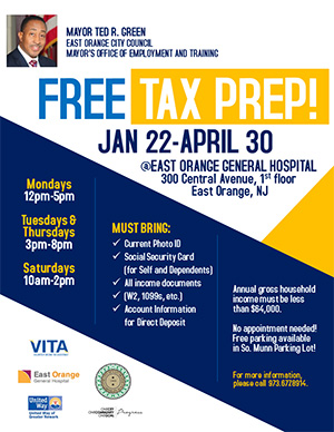 Free tax prep flyer