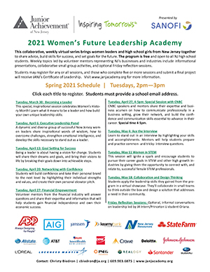2021 Women's Future Leadership Academy flyer