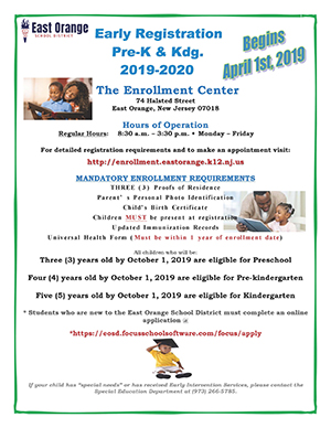 Early Pre-K and Kindergarten Registration Flyer