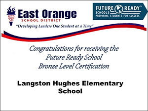 Langston Hughes Elementary School bronze level certification
