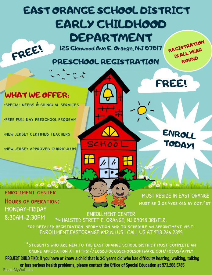 East Orange Focus >> Early Childhood Education East Orange School District