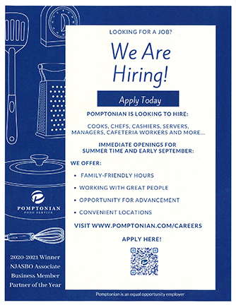We are hiring cooks, chefs, cashiers, servers, managers, cafeteria workers and more