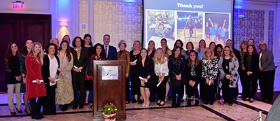 group that attended the 24th annual Paramus Chamber of Commerce Education Foundation's Dream Awards Gala