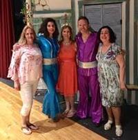 Teachers dressed in costumes