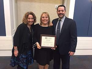 Dana Folcarelli poses with Tommy LoBue and Laurie Corizzo
