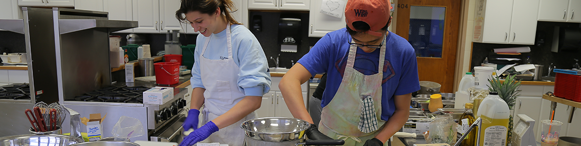 Paramus High School Students cooking