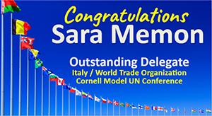 Congratulations to our PHS Model UN Delegate flyer