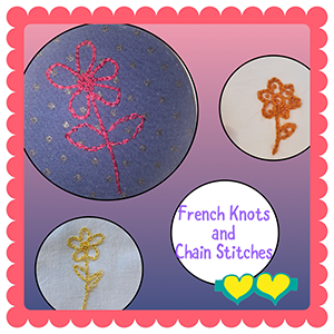 French knots and stitches