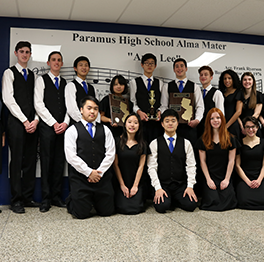 Music students pose together