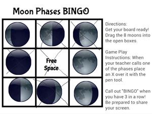 Moon Bingo game